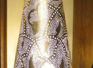 Lámpara metal suelo 35×100